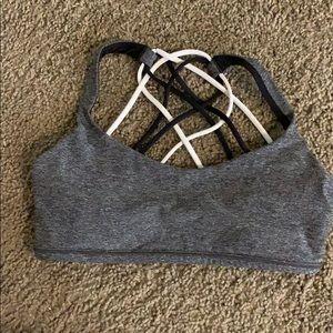 Strappy back multicolor sports bra (lululemon)